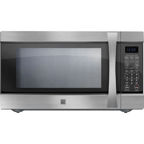 Stainless Steel Microwaves Countertop kenmore elite 75223 2 2 cu ft countertop microwave w large capacity stainless