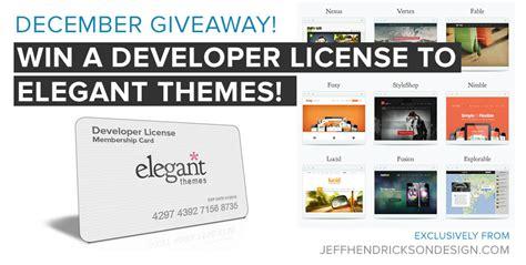 wordpress theme free license december giveaway win a developer license membership to
