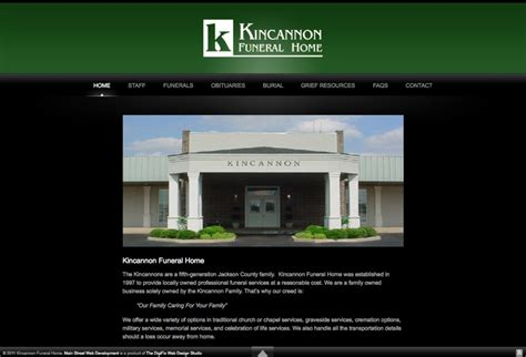 launched kincannon funeral home web development