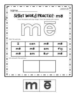 Reading Mastery K: Sight Word Practice Part 1 | Reading