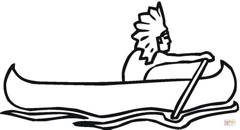 indian canoe coloring page canoeonriver free colouring pages