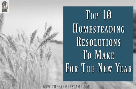 top 10 homesteading resolutions to make for the new year