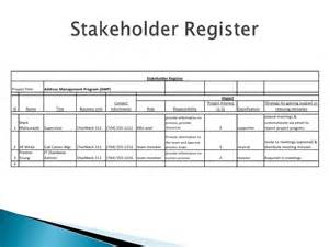 Stakeholder Register Template by Six Sigma Define