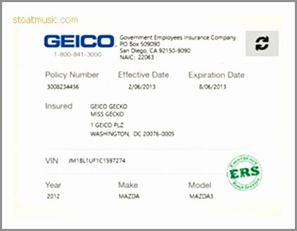 illinois auto insurance card template illinois insurance card fill line printable