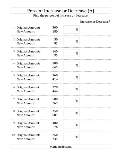 pattern grading calculator the percent increase or decrease of whole number amounts