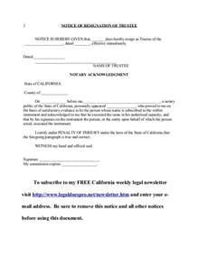 resignation letter format top trustee resignation letter