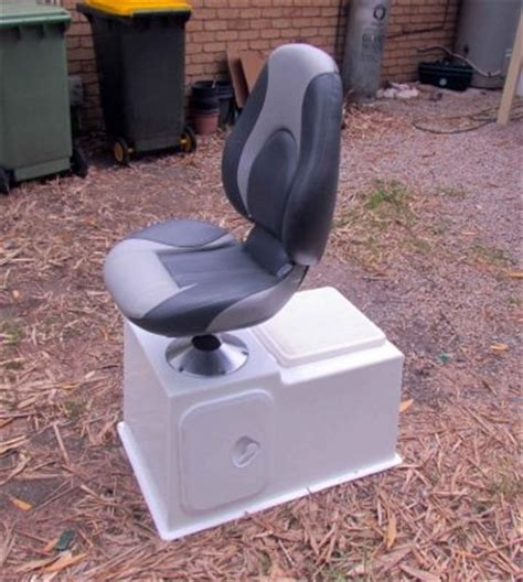 small boat cooler seat made 2 seat bases with live bait tanks for the boat mig
