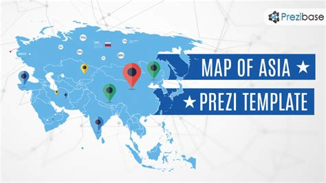 asia map prezi template prezibase