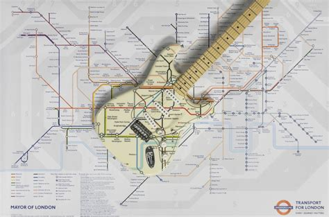 design museum london map tube map guitar by tfl and fender