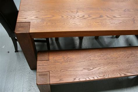 solid oak dining table and benches boston dark oak dining furniture chunky benches tables