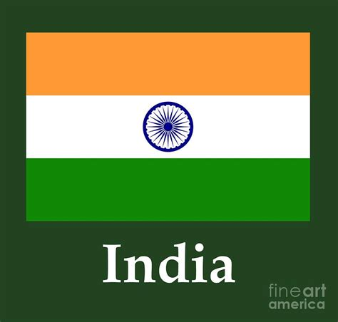 Indian Home Decor Online by India Flag And Name Digital Art By Frederick Holiday