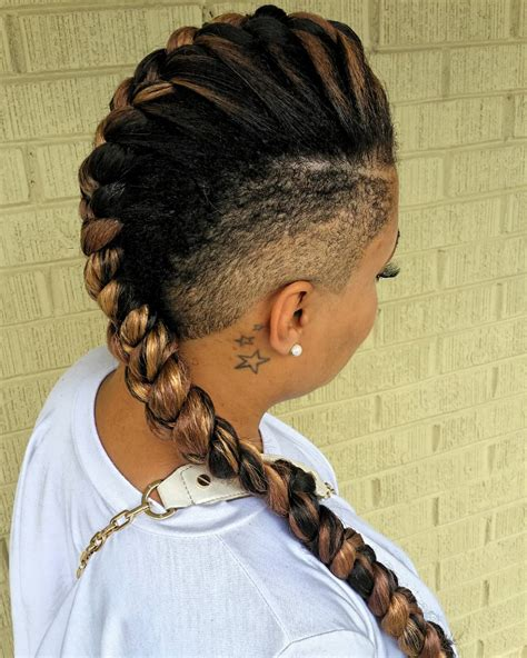 hair braided on the top but cut close on the side mohawk braids 12 braided mohawk hairstyles that get attention