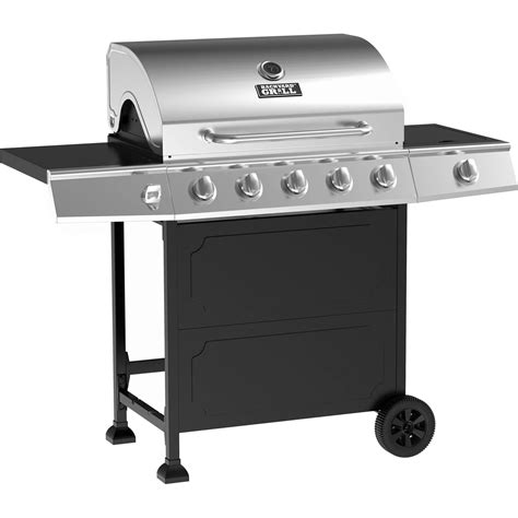 asador a gas backyard grill acero inoxidable 5 quemadores