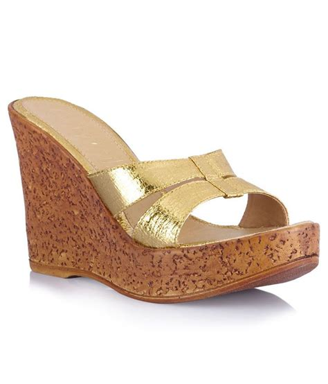 Wedges Slipon Levis catwalk gold wedge heeled slip ons price in india buy catwalk gold wedge heeled slip ons