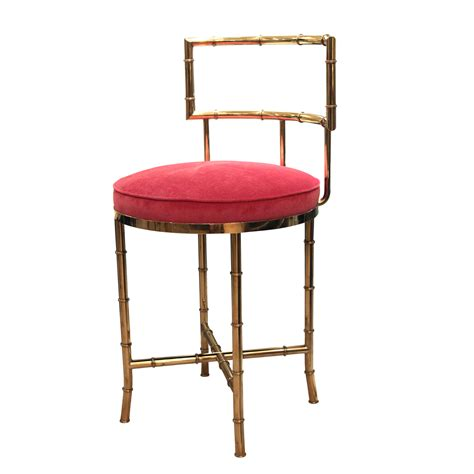 bench stool chairs faux bamboo brass high back vanity chair stools john