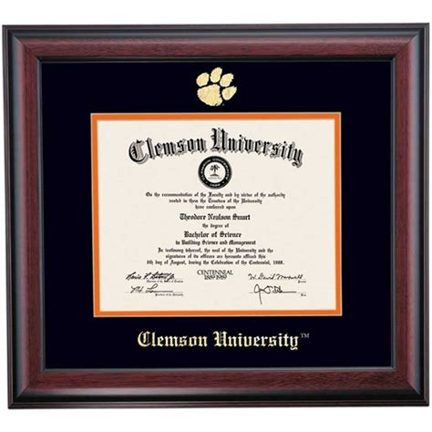 clemson school colors 42 best gifts for your grad images on diploma