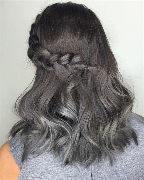 black grey hair 25 cool black and grey hair color ideas that are trendy now