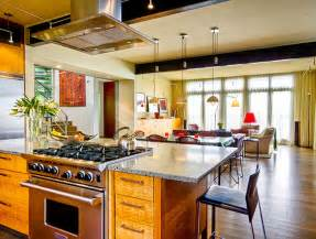 Living Design Kitchens Contemporary Interior Designs For Kitchen And Living Room Open Kitchen