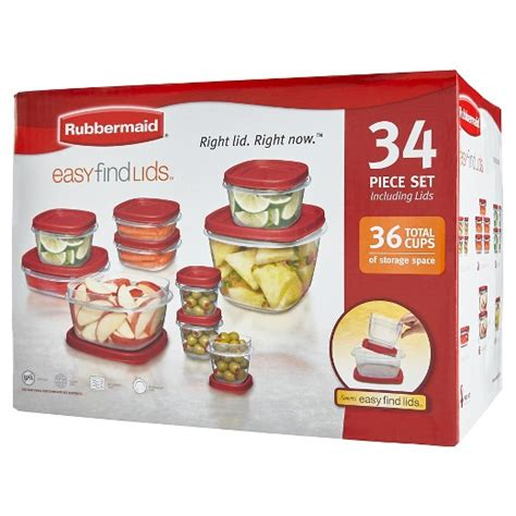 Tupperware Easy Kitchen rubbermaid food storage container set 34pc target