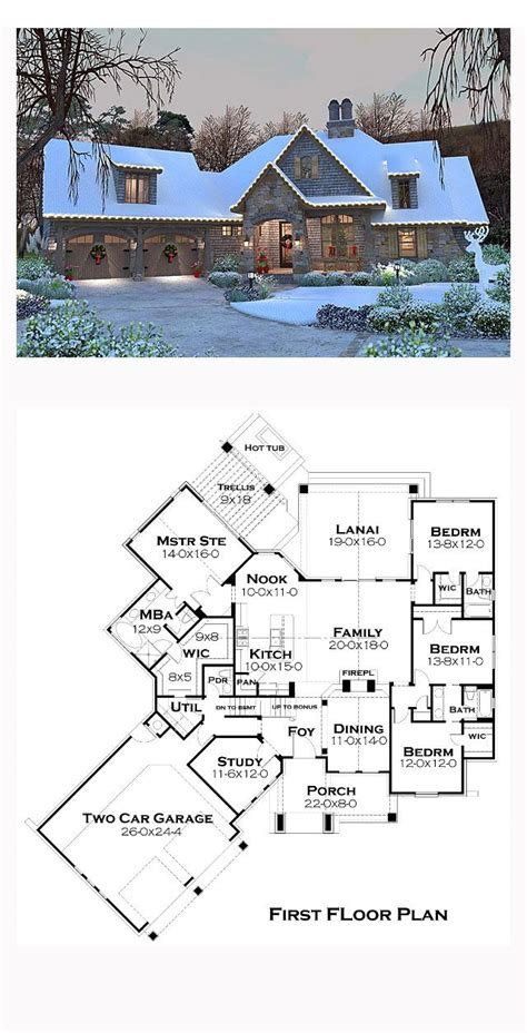 french cottage floor plans cottage craftsman french country house plan 75134