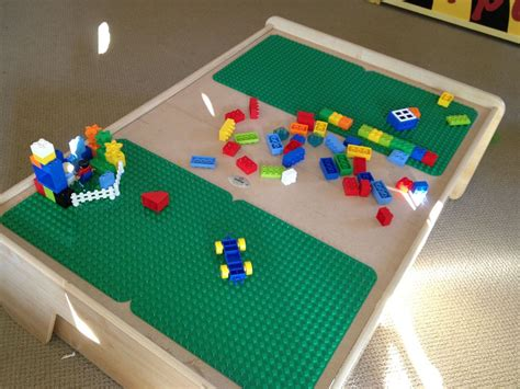 diy lego table powder room playground