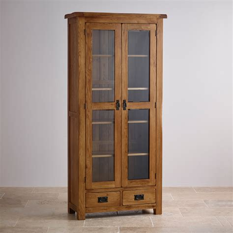 Display Cabinet by Original Rustic Glazed Display Cabinet In Solid Oak