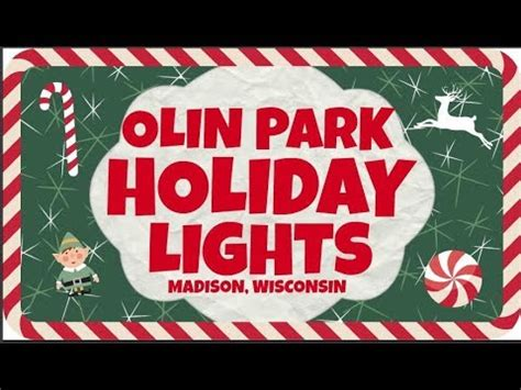 olin park christmas lights olin park holiday christmas lights madison wisconsin