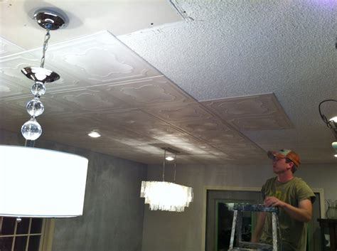 Cover Popcorn Ceiling With Tiles - cabinet painting nashville tn kitchen makeover