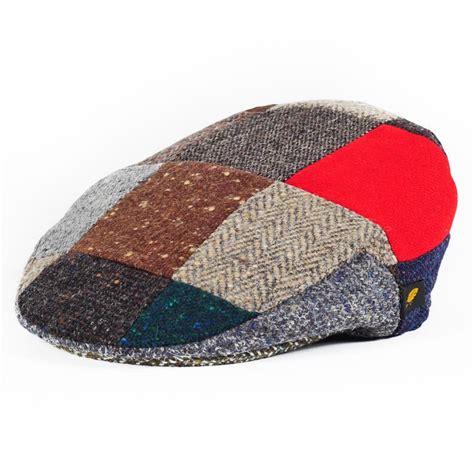 Patchwork Ireland - patch cap donegal tweed patchwork cap hatman of
