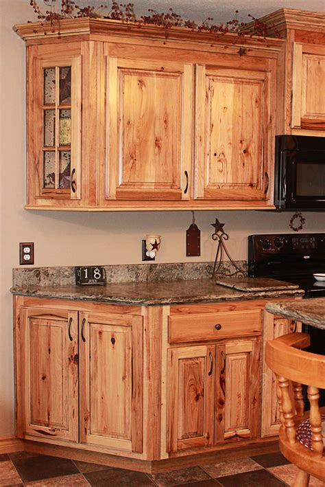 Rustic Cabinets For Kitchen The Cabinets Plus Rustic Hickory Kitchen Cabinets