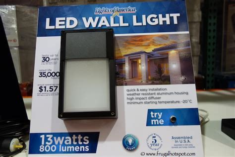 Costco Led Outdoor Lights Costco Sale Lights Of America Led Outdoor Wall Light 9 99 Frugal Hotspot