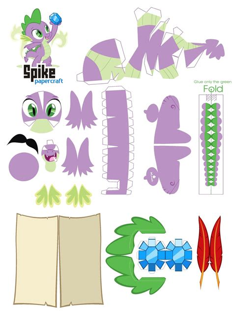 Papercraft Patterns - spike papercraft pattern by kna on deviantart