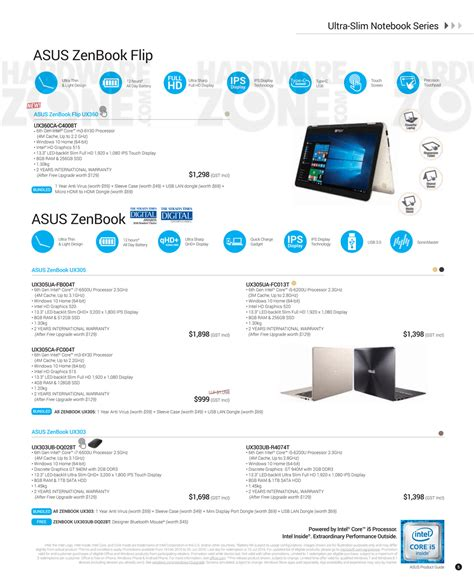 Singapore Product Guide asus product guide pg 05 brochures from pc show 2016