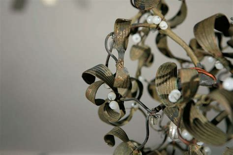 Sculptural French Mistletoe Light Fixture For Sale At 1stdibs Mistletoe Lights