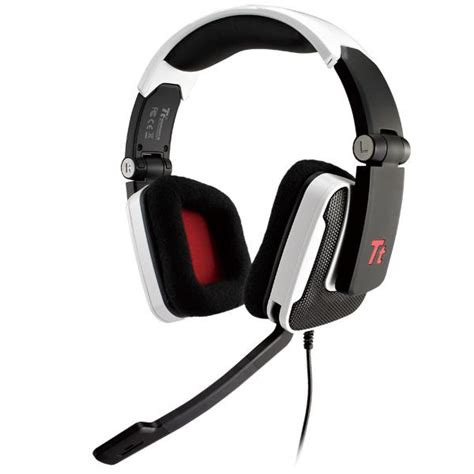 Headset Tt Esports Shock Gaming tt esports shock premium foldable gaming headset white ht shk002ecwh mwave au