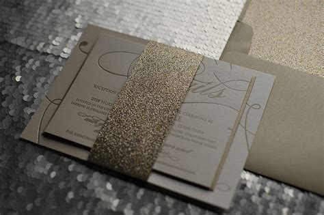 gold sparkle wedding invitations real wedding april and chris gold and glitter wedding