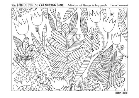 mindfulness colouring book secret garden free coloring pages of mindful