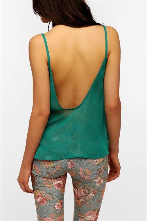 Scoop Back Tops by Pins And Needles Scoop Back Chiffon Tank Top