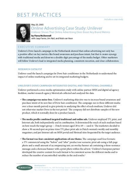 online advertising case study unilever
