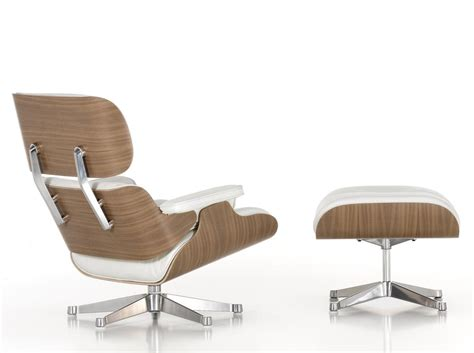 Vitra Eames Lounge Chair And Ottoman White Vitra Eames Lounge Chair And Ottoman