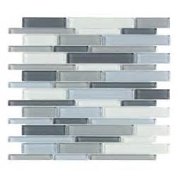 Home Depot Kitchen Tile Backsplash by Jeffrey Court Stratosphere Blue Pencil 12 In X 12 In X 8