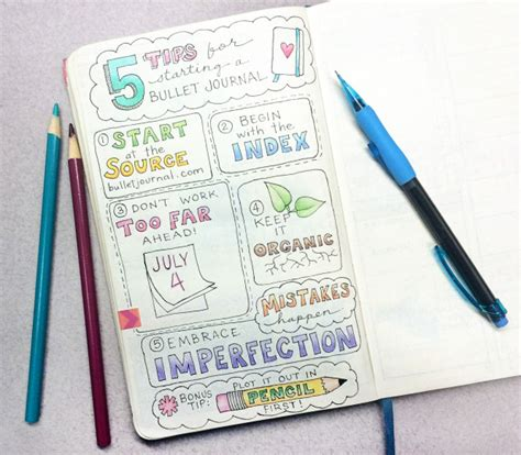 Bullet Journal Tips And Tricks by 5 Tips For Starting A Bullet Journal The Bullet Journal