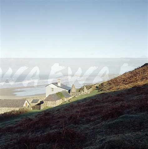 Rhossili Bay Cottages by Image Cottage On Hillside Above Rhossili Bay On The Gower