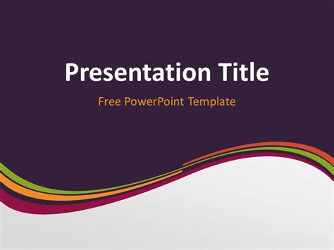 free purple wavy powerpoint template purple wave powerpoint template presentationgo com