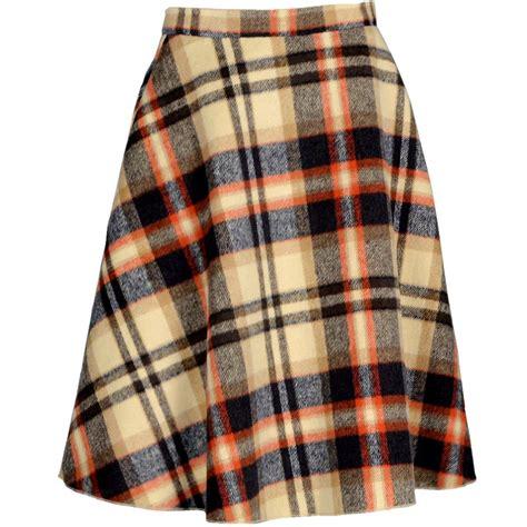 12751 Plaid Set Top Skirt 60s skirts 70s hippie skirts jumper dresses