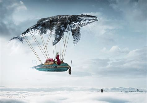Painting With Light flying whale by michael tompert cgi retouching from