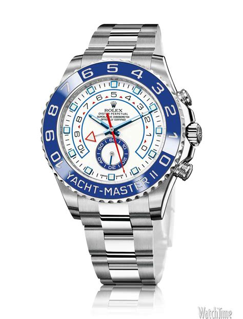 close  rolex yacht master ii  stainless steel