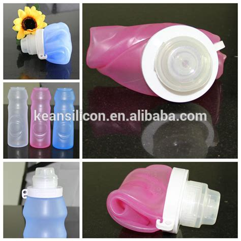 Eco Squeeze Bottle Bpa Free Foldable Bottle Hhd 30 collapsible silicone water bottle eco friendly reusable squeeze container leak proof bpa free