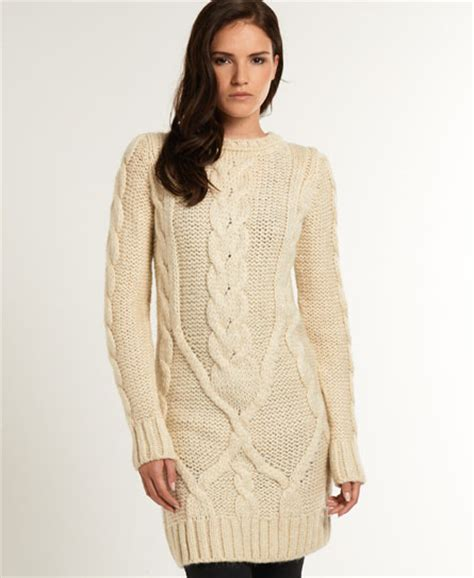 womens knit dresses new womens superdry cable knit dress winter dwd ebay