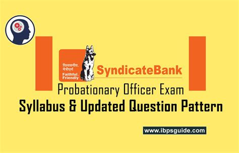 new pattern bank exam syndicate bank po syllabus and new pattern